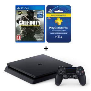 CONSOLE PS4 NOUVEAUTÉ Nouvelle PS4 Slim Noire 500 Go + Call of Duty Infi