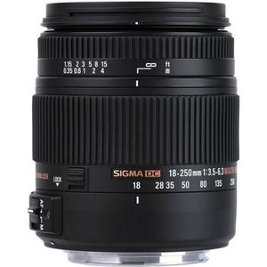 OBJECTIF SIGMA 18-250mm F3.5-6.3 DC MACRO OS HSM pour CANON