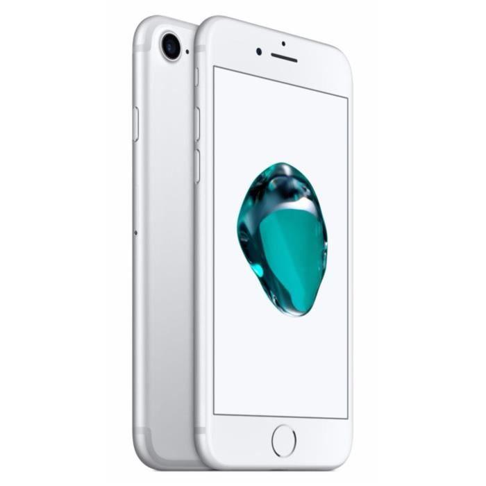 apple iphone 7 256 go argent achat smartphone pas cher avis et meilleur prix cdiscount. Black Bedroom Furniture Sets. Home Design Ideas