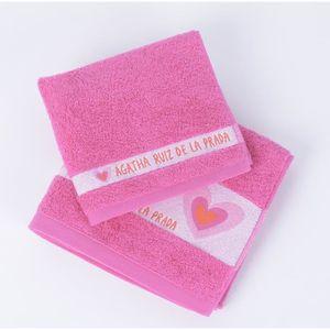 Agatha ruiz de la prada 1 serviette de bain 50x90cm 1 serviette invit e 30x - Temperature lavage serviette de bain ...