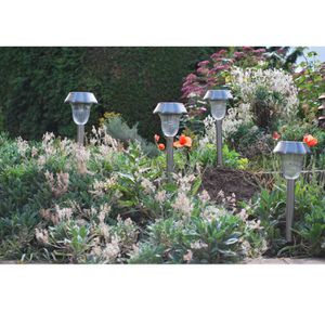 LAMPION Lot de 4 lanternes en inox