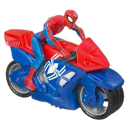spiderman zomm 39 n go moto spiderman figurine achat vente voiture camion spiderman zomm n. Black Bedroom Furniture Sets. Home Design Ideas