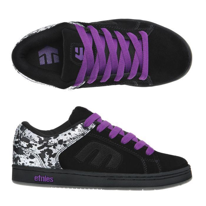 Etnies Skate Shoes Digit 2 Femme Femme Noir Argent Et Violet Achat Vente Etnies Digit 2