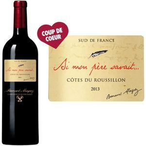 VIN ROUGE Si Mon Père Savait Côtes du Roussillon 2013 - V...