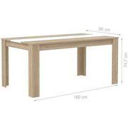 TABLE A MANGER SEULE FINLANDEK Table à manger ELÄMÄ 6 personnes 160x90