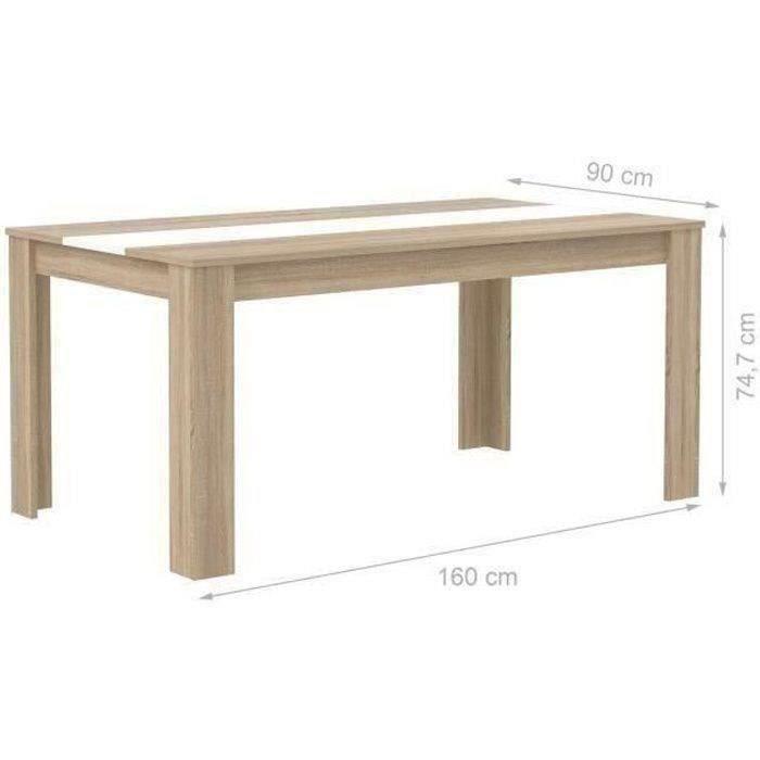 Finlandek table el m 160cm ch ne blanc achat vente for Table sejour scandinave
