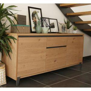 bahut chene blanchi achat vente bahut chene blanchi pas cher cdiscount. Black Bedroom Furniture Sets. Home Design Ideas
