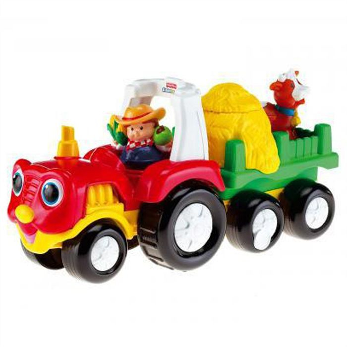 fisher price tracteur surprise achat vente voiture camion cdiscount. Black Bedroom Furniture Sets. Home Design Ideas