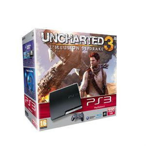 CONSOLE PS3 PACK PS3 320 GO UNCHARTED 3: DRAKE'S DECEPTION
