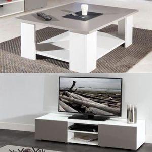 Table pliante tv achat vente table pliante tv pas cher for Salon complet blanc