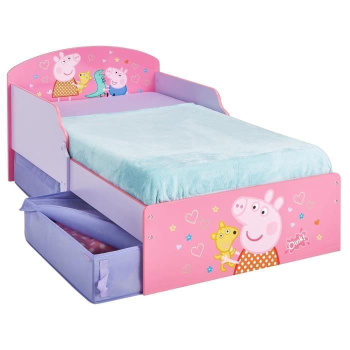 Peppa pig lit enfant avec tiroirs de rangement hello home 70 140 cm worlds apart achat - Lit 140 avec tiroirs rangement ...