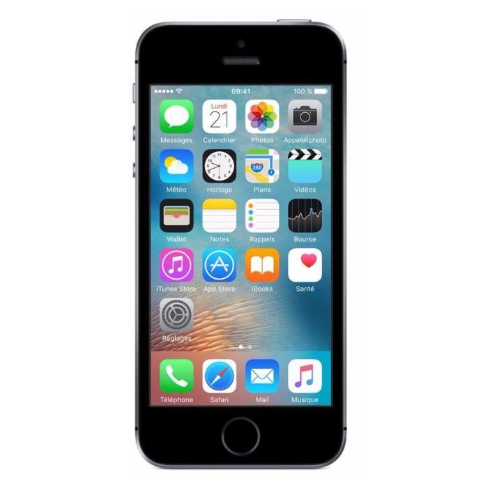 apple iphone se 16 go space grey achat smartphone pas cher avis et meilleur prix cdiscount. Black Bedroom Furniture Sets. Home Design Ideas