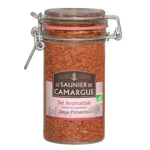 SEL Pot Verre Sel de Camargue aux 2 piments 230g