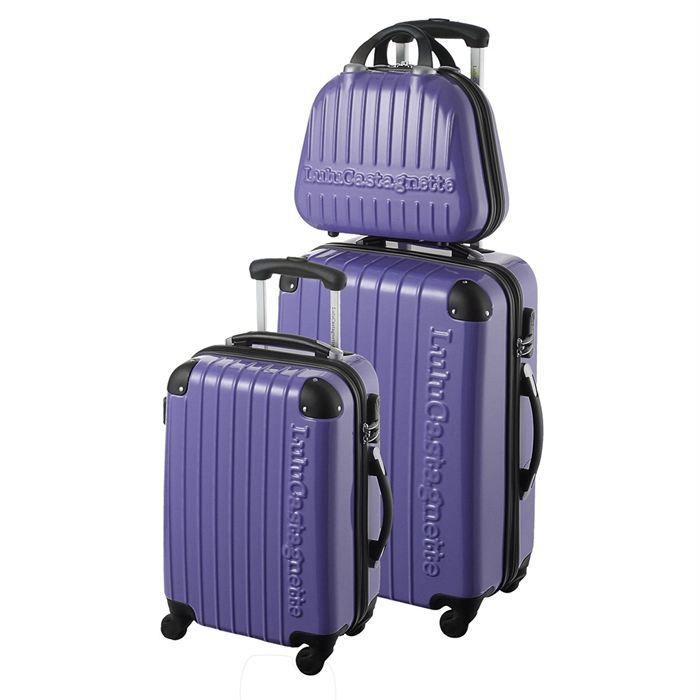lulu castagnette 2 valises trolley vanity nce violet achat vente set de valises lulu. Black Bedroom Furniture Sets. Home Design Ideas