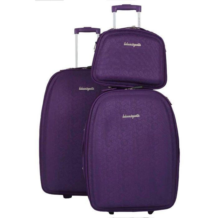 Lulu castagnette 2 valises trolley vanity sea violet achat vente set de valises lulu - Valise cabine lulu castagnette ...