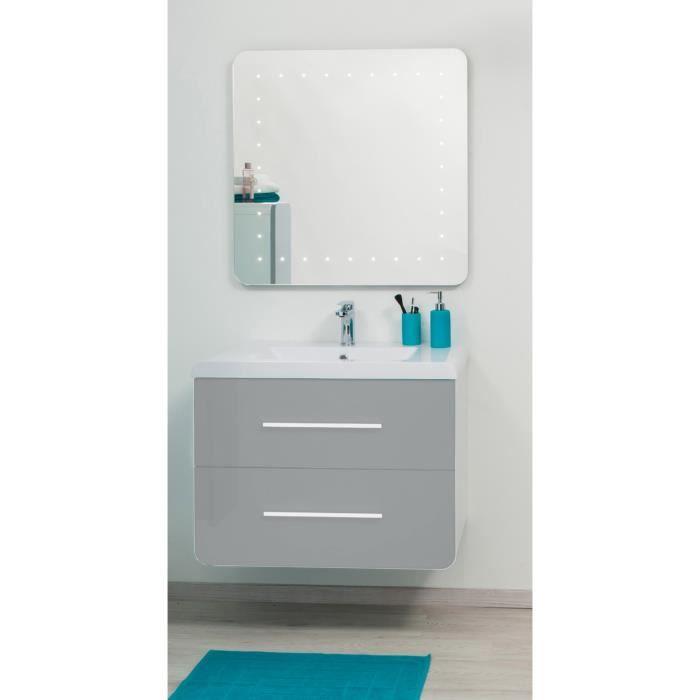Gino salle de bain compl te en bois simple vasque 81 cm for Meuble salle de bain 80 cm bois