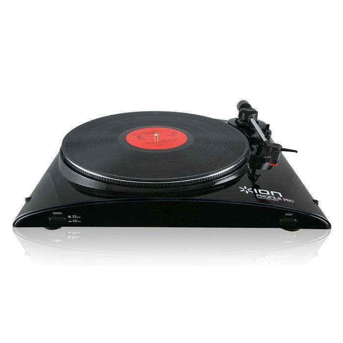 ion profile lp pro platine vinyle usb achat vente. Black Bedroom Furniture Sets. Home Design Ideas