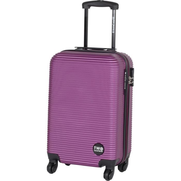 Travel world valise cabine trolley 4 roues abs 50 cm - Valise a prix discount ...