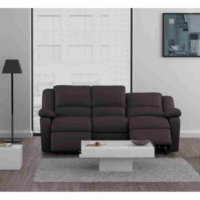 Canap relax canap cuir pu beige 3 places pictures to pin - Canape 3 places beige ...