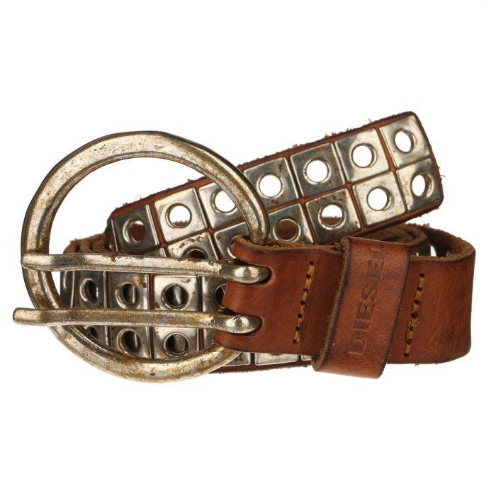 diesel ceinture femme camel et clous argent s achat vente ceinture et boucle diesel ceinture. Black Bedroom Furniture Sets. Home Design Ideas