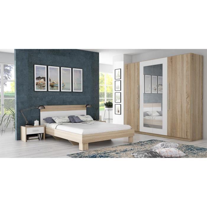LIT COMPLET HELEN Chambre complète adulte avec lit 140cm