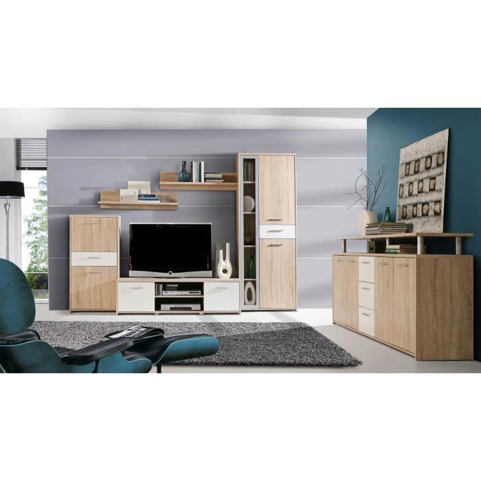 Finlandek meuble tv enfilade pablo ch ne blanc achat for Meuble tv finlandek