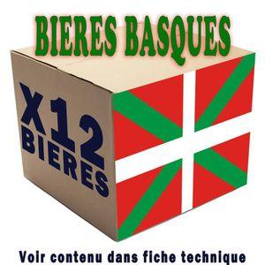 BIÈRE 12 bières Basques  12 x 33cl