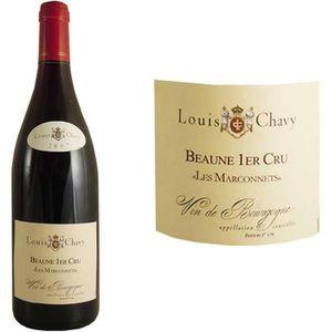 VIN ROUGE Louis Chavy Beaune 1er cru Les Marconnets 2007 - V