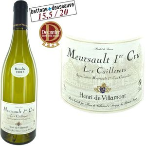 """VIN BLANC Henri de Villamont Meursault 1er Cru """"Les Caillere"""