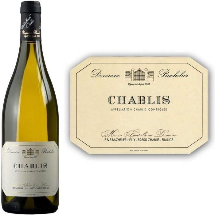 VIN BLANC Domaine Bachelier Chablis 2012