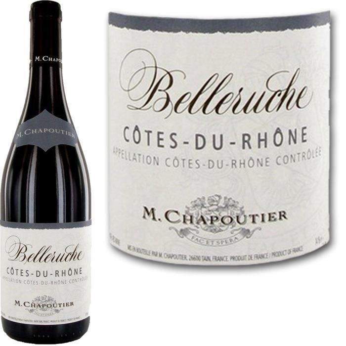 VIN ROUGE Chapoutier Belleruche Côtes du Rhône 2013