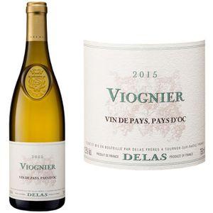 VIN BLANC Sélection Delas Viognier 2015 -  Vin blanc x1