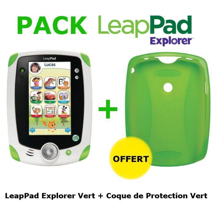 CONSOLE ÉDUCATIVE LeapPad Tablette Explorer Vert + Coque Verte