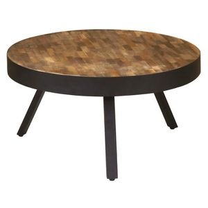 Table basse ronde bois achat vente table basse ronde for Table basse industriel pas cher