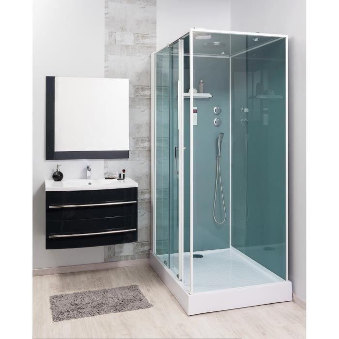 Lea ensemble meuble de salle de bain 80cm gris achat for Ensemble meuble salle de bain 80 cm
