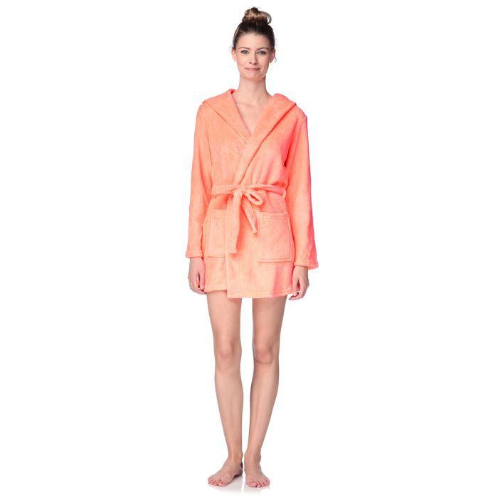 arkitect peignoir femme orange fluo achat vente chemise de nuit cdiscount. Black Bedroom Furniture Sets. Home Design Ideas