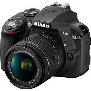 APPAREIL PHOTO RÉFLEX NIKON D3300 Noir + AF-P 18-55VR Appareil photo num