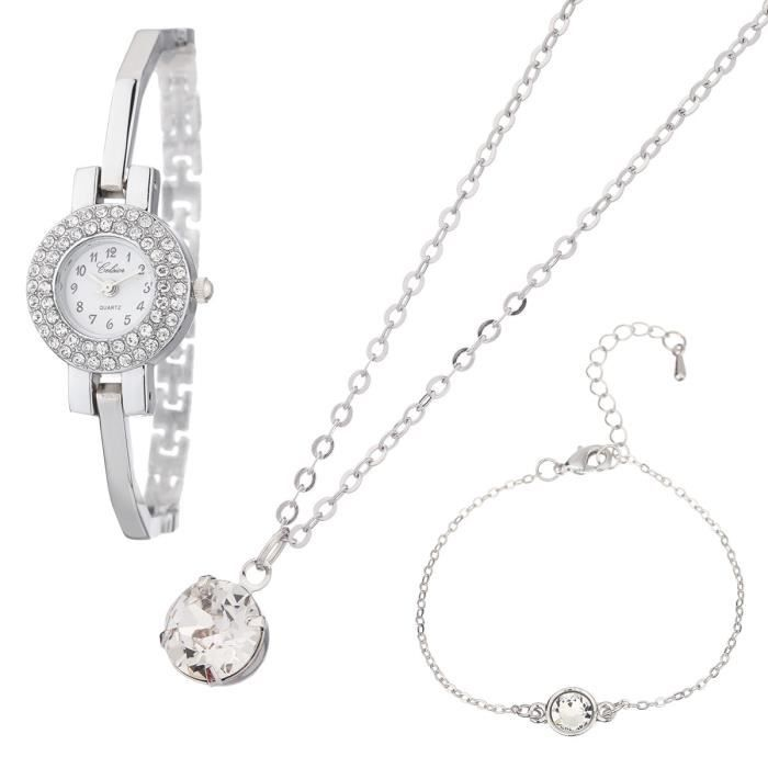 montre collier et bracelet celsior orn s de cristaux de swarovski elements femme achat. Black Bedroom Furniture Sets. Home Design Ideas