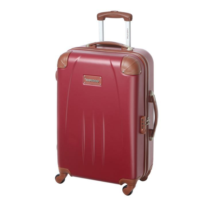 murano valise trolley 4 roues 61 cm rouge achat vente valise bagage murano valise trolley. Black Bedroom Furniture Sets. Home Design Ideas