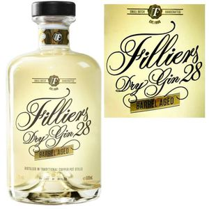 GIN Filliers 28  barrel aged Gin 50cl 43.7° Belgique