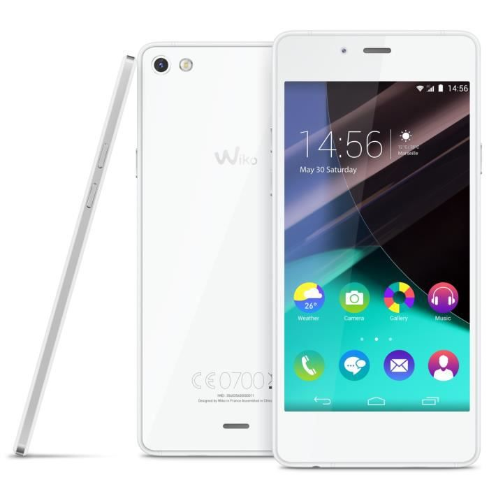 wiko highway pure 4g blanc silver achat smartphone pas. Black Bedroom Furniture Sets. Home Design Ideas