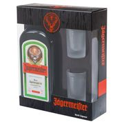 LIQUEUR Coffret Jägermeister 70cl  2 verres shooters