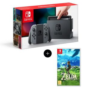 SORTIE CONSOLE NINTENDO SWITCH Console Nintendo Switch + Paire de Joy-Con gris +