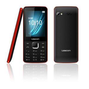 Téléphone portable Logicom L-281 Noir Rouge
