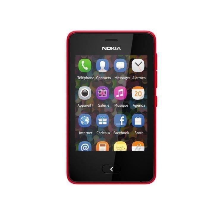 nokia asha 501 dual sim rouge achat t l phone portable pas cher avis et meilleur prix cdiscount. Black Bedroom Furniture Sets. Home Design Ideas