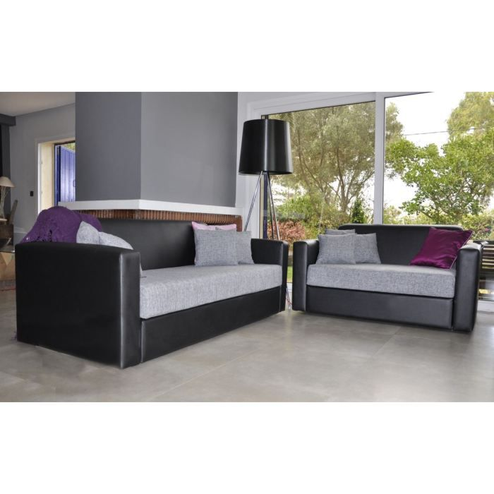 ensemble canap 3 2. Black Bedroom Furniture Sets. Home Design Ideas