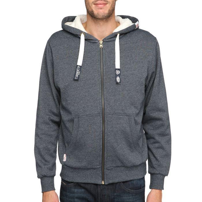 tokyo laundry veste sweat zipp e capuche homme gris chin achat vente sweatshirt tokyo. Black Bedroom Furniture Sets. Home Design Ideas
