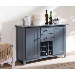Kitchen buffet de cuisine 112cm gris achat vente for Meuble de cuisine original