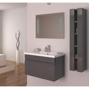 Alban salle de bain compl te simple vasque 80 cm gris for Prix salle de bain complete