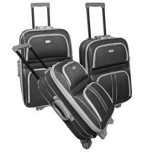 SET DE VALISES KINSTON Set de 3 valises 2 roues 50/60/70 cm SILVE